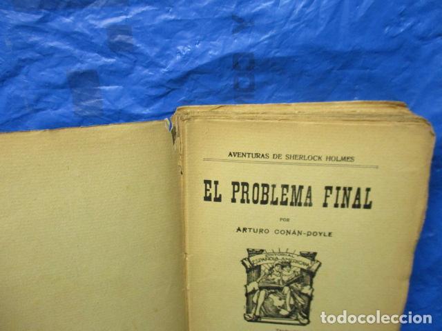 Libros antiguos: aventuras de sherlock holmes el problema final 1907 - Foto 5 - 220632763