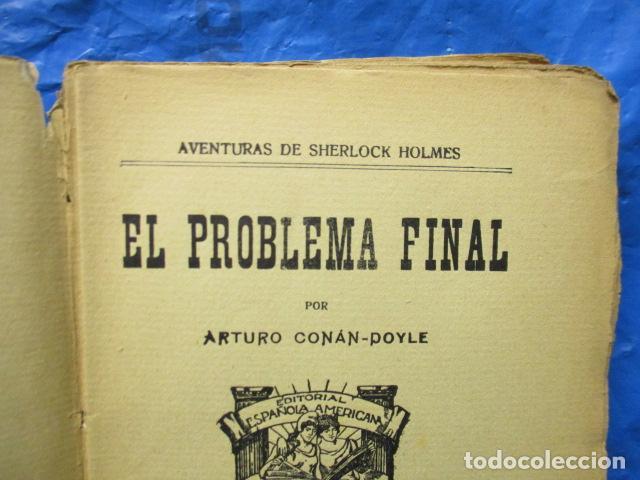 Libros antiguos: aventuras de sherlock holmes el problema final 1907 - Foto 6 - 220632763