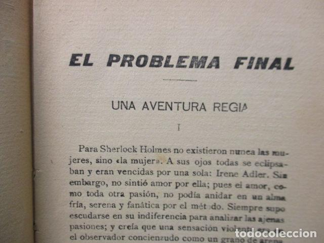 Libros antiguos: aventuras de sherlock holmes el problema final 1907 - Foto 8 - 220632763