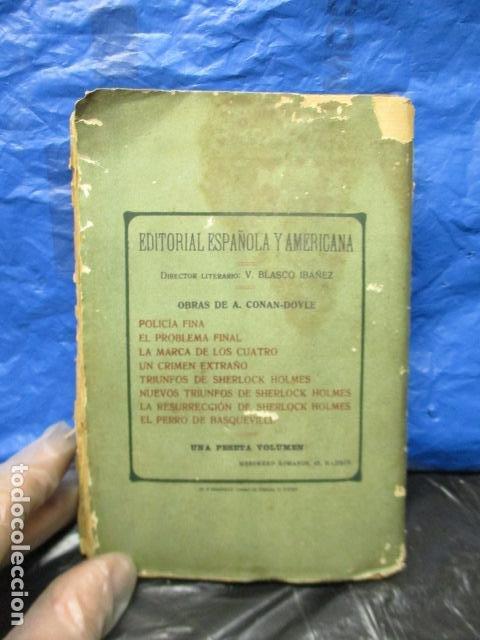 Libros antiguos: aventuras de sherlock holmes el problema final 1907 - Foto 11 - 220632763