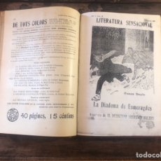 Libros antiguos: LITERATURA SENSACIONAL, AVENTURA DE EL DETECTIVE SHERLOCK HOLMES, 1908.. Lote 202847296