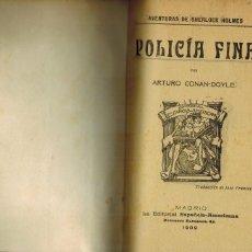 Libros antiguos: POLICÍA FINA. Lote 206763992