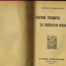 Libros antiguos: NUEVOS TRIUNFOS DE SHERLOCK HOLMES. Lote 206766110