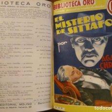 Libros antiguos: 4 NOVELAS DE AGATHA CHRISTIE. BIBLIOTECA ORO. 1934 1935. BONITAS ILUSTRACIONES.. Lote 206866948