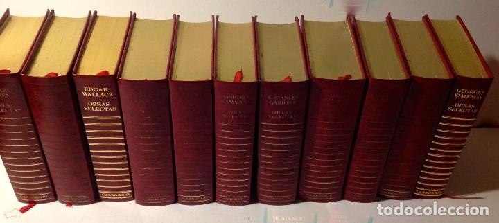EDGAR WALLACE – OBRAS SELECTAS – CARROGGIO, 1985 – 11 LIBROS TAPA ROJA COLECCIÓN (Libros antiguos (hasta 1936), raros y curiosos - Literatura - Terror, Misterio y Policíaco)