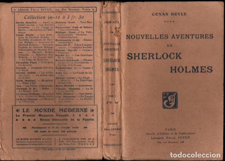 Libros antiguos: CONAN DOYLE ; NOUVELLES AVENTURES DE SHERLOCK HOLMES (JUVEN, PARIS, 1908) - Foto 2 - 214866316