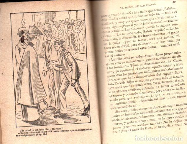 Libros antiguos: ARTURO CONAN DOYLE : SEHRLOCK HOLMES LA MARCA DE LOS CUATRO (NOVELA ILUSTRADA, S.F.) - Foto 2 - 221325137