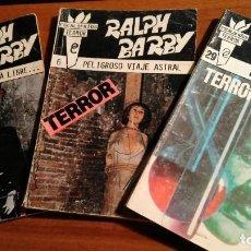 Libros antiguos: LOTE DE 3 EJEMPLARES DE NOVELAS BOLSILIBROS. ESCALOFRÍOS TERROR. EDICIONES OLIMPIC. RALPH BARBY.. Lote 226364535