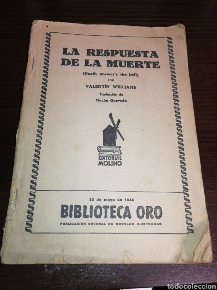 AÑO 1934, 1°EDICIÓN, NOVELA POLICÍACA, LA RESPUESTA DE LA MUERTE, 95 PÁGINAS (Libros antiguos (hasta 1936), raros y curiosos - Literatura - Terror, Misterio y Policíaco)