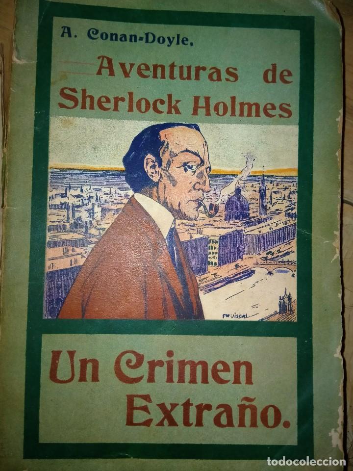 UN CRIMEN EXTRAÑO - SHERLOCK HOLMES - MADRID 1907 - LA NOVELA ILUSTRADA (Libros antiguos (hasta 1936), raros y curiosos - Literatura - Terror, Misterio y Policíaco)