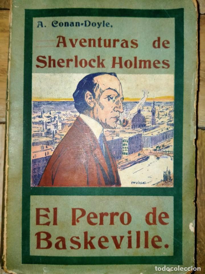 AVENTURAS DE SHERLOCK HOLMES - EL PERRO DE BASKERVILLE - 1908 (Libros antiguos (hasta 1936), raros y curiosos - Literatura - Terror, Misterio y Policíaco)