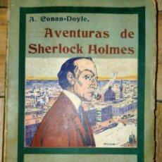 Libros antiguos: AVENTURAS DE SHERLOCK HOLMES - EL PERRO DE BASKERVILLE - 1908. Lote 231170430