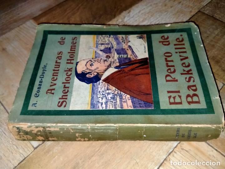 Libros antiguos: AVENTURAS DE SHERLOCK HOLMES - EL PERRO DE BASKERVILLE - 1908 - Foto 3 - 231170430