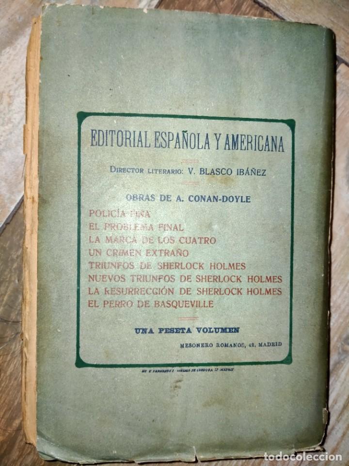 Libros antiguos: AVENTURAS DE SHERLOCK HOLMES - EL PERRO DE BASKERVILLE - 1908 - Foto 4 - 231170430