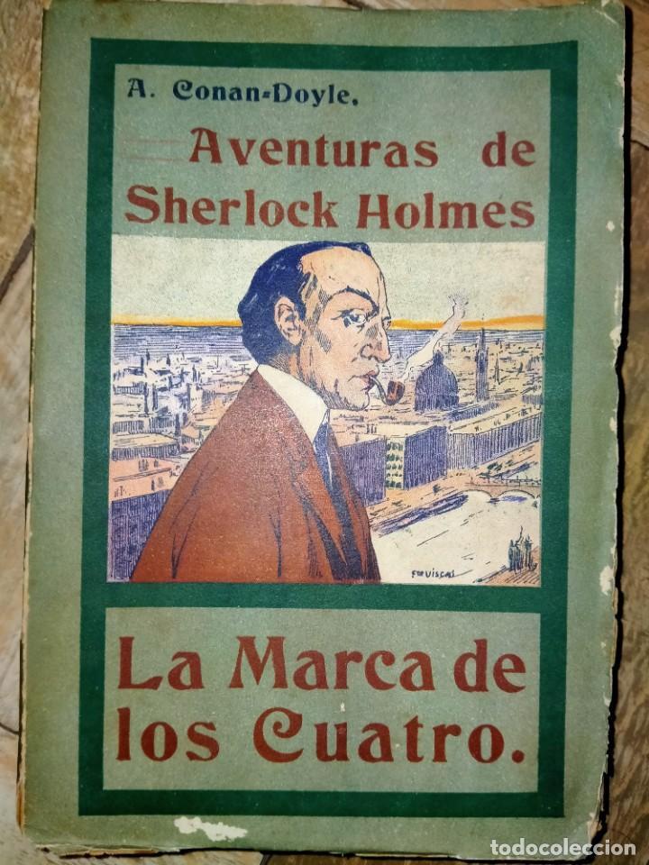 LA MARCA DE LOS CUATRO - AVENTURAS DE SHERLOCK HOLMES - MADRID 1907 - LA NOVELA ILUSTRADA (Libros antiguos (hasta 1936), raros y curiosos - Literatura - Terror, Misterio y Policíaco)