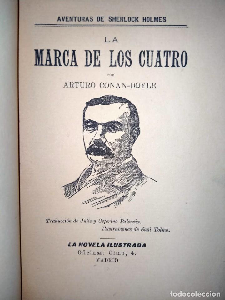 Libros antiguos: LA MARCA DE LOS CUATRO - AVENTURAS DE SHERLOCK HOLMES - MADRID 1907 - LA NOVELA ILUSTRADA - Foto 3 - 231170805
