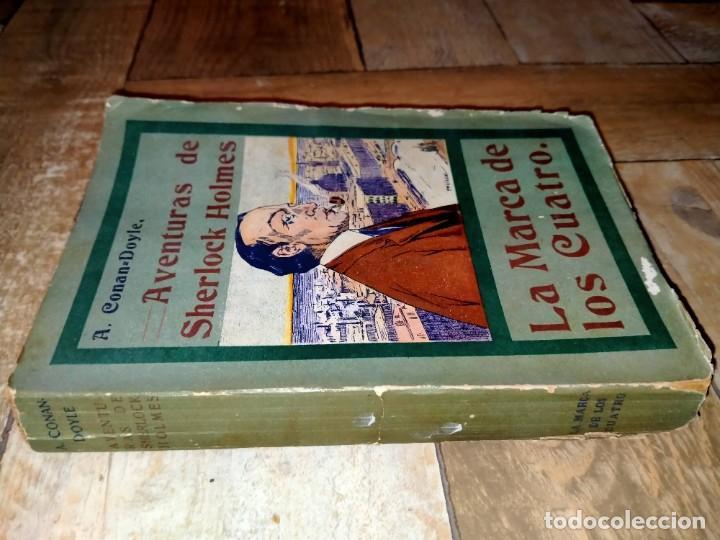 Libros antiguos: LA MARCA DE LOS CUATRO - AVENTURAS DE SHERLOCK HOLMES - MADRID 1907 - LA NOVELA ILUSTRADA - Foto 4 - 231170805