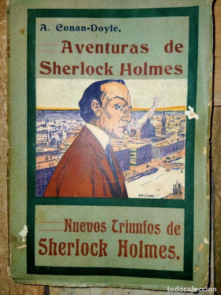 LAS AVENTURAS DE SHERLOCK HOLMES - NUEVOS TRIUNFOS - ED HISPANO AMERICANA - MADRID 1908 (Libros antiguos (hasta 1936), raros y curiosos - Literatura - Terror, Misterio y Policíaco)