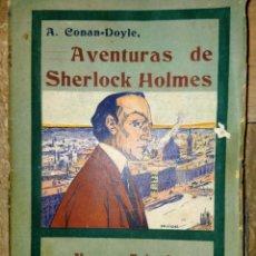 Libros antiguos: LAS AVENTURAS DE SHERLOCK HOLMES - NUEVOS TRIUNFOS - ED HISPANO AMERICANA - MADRID 1908. Lote 231171150