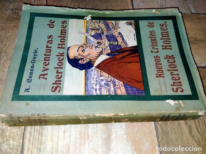 Libros antiguos: LAS AVENTURAS DE SHERLOCK HOLMES - NUEVOS TRIUNFOS - ED HISPANO AMERICANA - MADRID 1908 - Foto 2 - 231171150