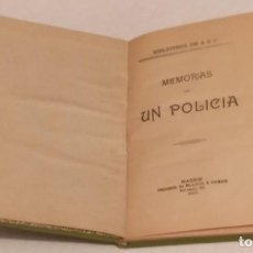 Libros antiguos: BIBLIOTECA DE ABC - MEMORIAS DE UN POLICIA - BLANCO Y NEGRO AÑO 1907 -102 PAGS. Lote 234538425