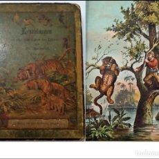 Libros antiguos: CURIOSO LIBRO ANTIGUO CON ILUSTRACIONES EN COLOR.. Lote 234630430