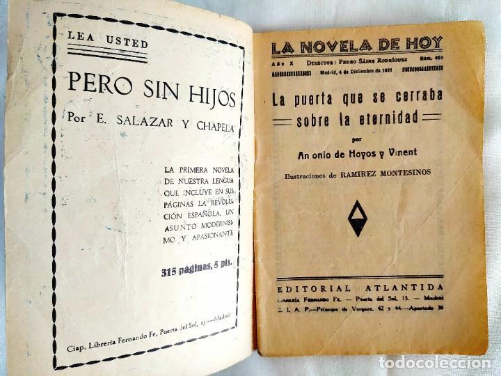 Libros antiguos: 1931 - HOYOS Y VINENT: LA PUERTA QUE SE CERRABA SOBRE LA ETERNIDAD - Foto 2 - 239968260