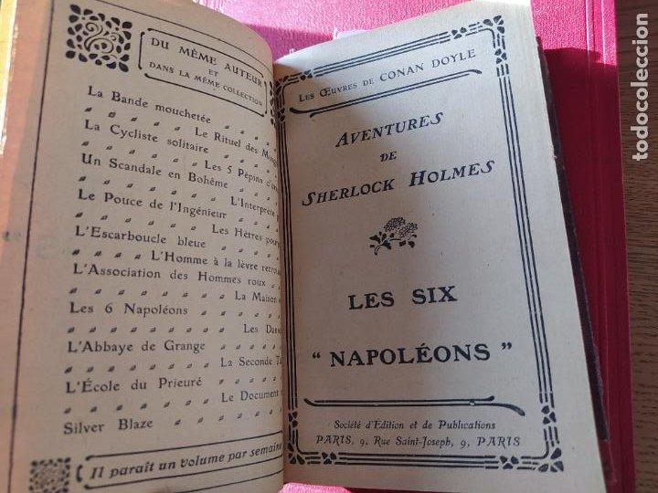 Libros antiguos: Volumen con varias obras de sherlock Holmes, de Conan Doyle. Edicion francesa de 1905, ed. EDP. - Foto 9 - 241848090