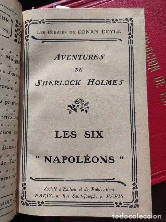 Libros antiguos: Volumen con varias obras de sherlock Holmes, de Conan Doyle. Edicion francesa de 1905, ed. EDP. - Foto 10 - 241848090