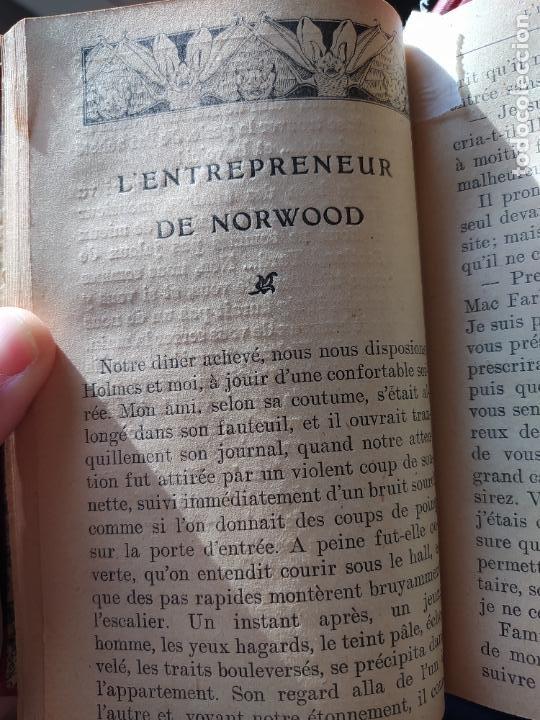 Libros antiguos: Volumen con varias obras de sherlock Holmes, de Conan Doyle. Edicion francesa de 1905, ed. EDP. - Foto 11 - 241848090