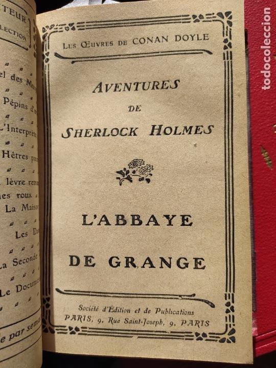 Libros antiguos: Volumen con varias obras de sherlock Holmes, de Conan Doyle. Edicion francesa de 1905, ed. EDP. - Foto 12 - 241848090