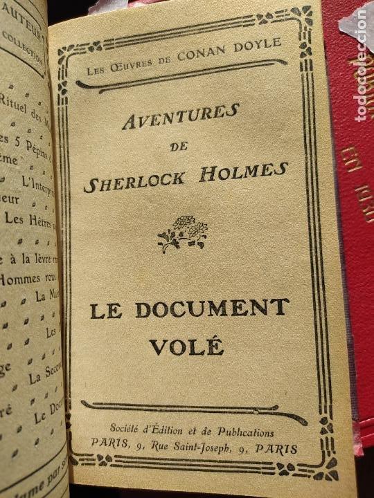 Libros antiguos: Volumen con varias obras de sherlock Holmes, de Conan Doyle. Edicion francesa de 1905, ed. EDP. - Foto 13 - 241848090