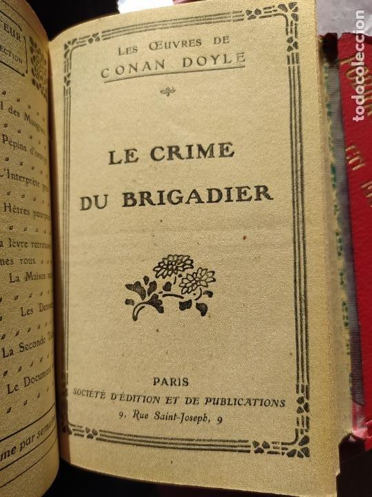 Libros antiguos: Volumen con varias obras de sherlock Holmes, de Conan Doyle. Edicion francesa de 1905, ed. EDP. - Foto 15 - 241848090