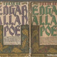 Libros antiguos: OBRAS DE EDGAR ALLAN POE. HISTORIAS EXTRAORDINARIAS.EDICIONES MATEU. 2 TOMOS. TOMO II Y III. Lote 244708585