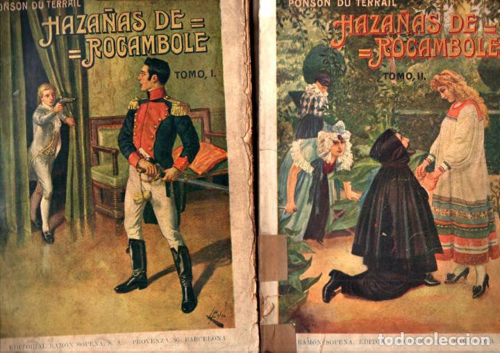 PONSON DU TERRAIL : HAZAÑAS DE ROCAMBOLE - DOS TOMOS (SOPENA, 1937) (Libros antiguos (hasta 1936), raros y curiosos - Literatura - Terror, Misterio y Policíaco)