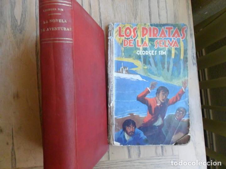LOS MALDITOS DEL PACIFICO Y DOS MÁS (VER DETALLE). GEORGES SIM.(SIMENON) AVENTURAS. (Libros antiguos (hasta 1936), raros y curiosos - Literatura - Terror, Misterio y Policíaco)