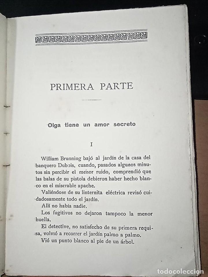 Libros antiguos: AVENTURAS DEL DETECTIVE WILLIAM BRUNNING 3, OLGA LA TRAIDORA. FELIPE PÉREZ CAPO. ¿ PASTICHE HOLMES ? - Foto 5 - 42162220