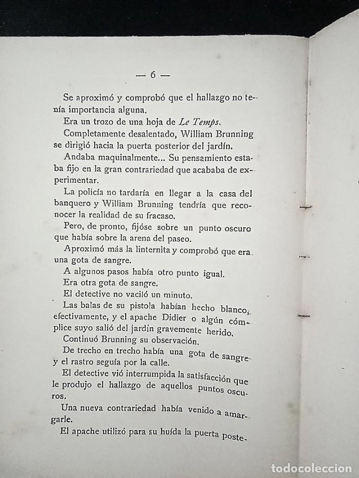 Libros antiguos: AVENTURAS DEL DETECTIVE WILLIAM BRUNNING 3, OLGA LA TRAIDORA. FELIPE PÉREZ CAPO. ¿ PASTICHE HOLMES ? - Foto 6 - 42162220