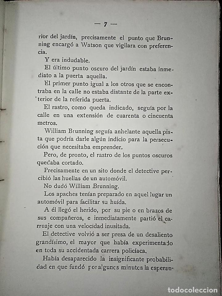 Libros antiguos: AVENTURAS DEL DETECTIVE WILLIAM BRUNNING 3, OLGA LA TRAIDORA. FELIPE PÉREZ CAPO. ¿ PASTICHE HOLMES ? - Foto 7 - 42162220