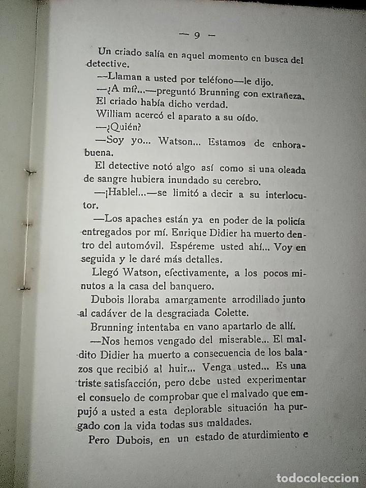 Libros antiguos: AVENTURAS DEL DETECTIVE WILLIAM BRUNNING 3, OLGA LA TRAIDORA. FELIPE PÉREZ CAPO. ¿ PASTICHE HOLMES ? - Foto 9 - 42162220