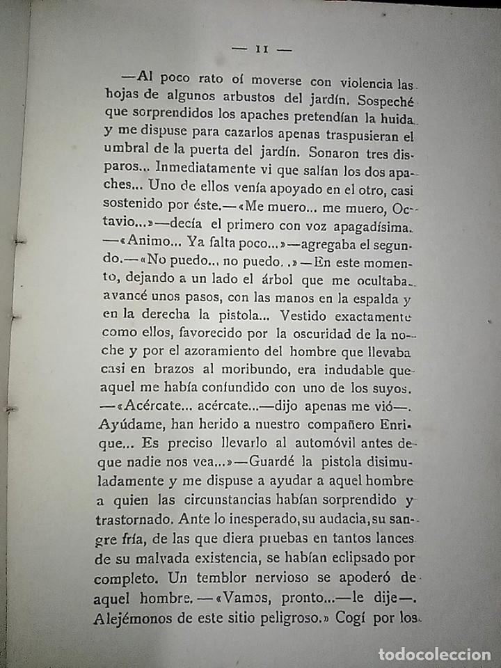 Libros antiguos: AVENTURAS DEL DETECTIVE WILLIAM BRUNNING 3, OLGA LA TRAIDORA. FELIPE PÉREZ CAPO. ¿ PASTICHE HOLMES ? - Foto 11 - 42162220