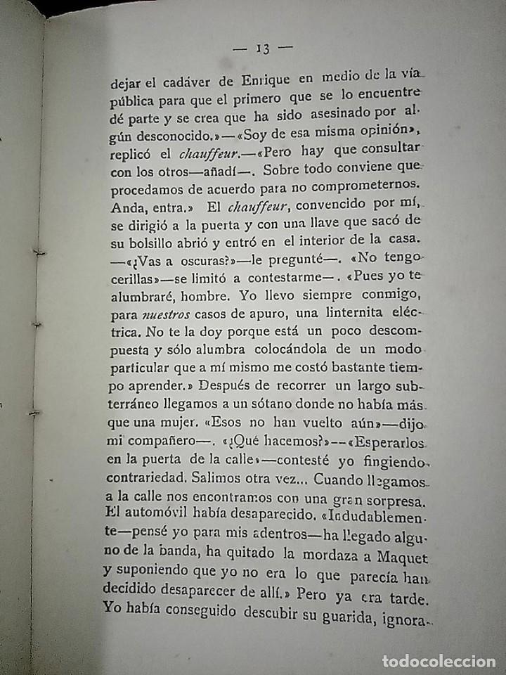 Libros antiguos: AVENTURAS DEL DETECTIVE WILLIAM BRUNNING 3, OLGA LA TRAIDORA. FELIPE PÉREZ CAPO. ¿ PASTICHE HOLMES ? - Foto 13 - 42162220