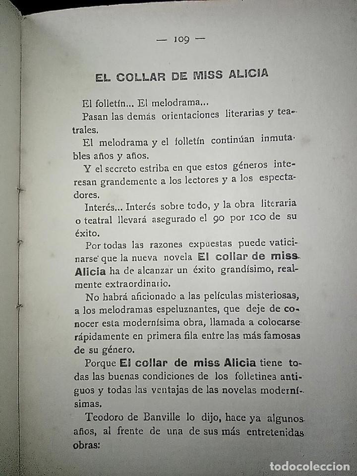 Libros antiguos: AVENTURAS DEL DETECTIVE WILLIAM BRUNNING 3, OLGA LA TRAIDORA. FELIPE PÉREZ CAPO. ¿ PASTICHE HOLMES ? - Foto 17 - 42162220
