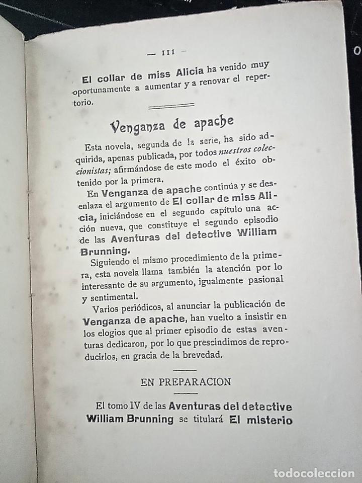 Libros antiguos: AVENTURAS DEL DETECTIVE WILLIAM BRUNNING 3, OLGA LA TRAIDORA. FELIPE PÉREZ CAPO. ¿ PASTICHE HOLMES ? - Foto 19 - 42162220