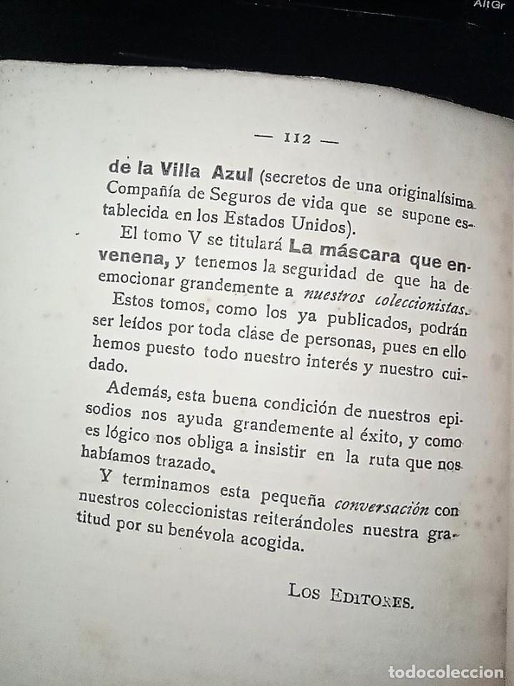 Libros antiguos: AVENTURAS DEL DETECTIVE WILLIAM BRUNNING 3, OLGA LA TRAIDORA. FELIPE PÉREZ CAPO. ¿ PASTICHE HOLMES ? - Foto 20 - 42162220