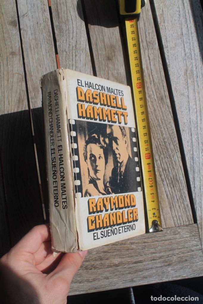 NOVELA NEGRA EL SUEÑO ETERNO DE RAIMON CHANDLER Y EL HALCÓN MATES DE DASIHELL HAMMETT; (Libros antiguos (hasta 1936), raros y curiosos - Literatura - Terror, Misterio y Policíaco)