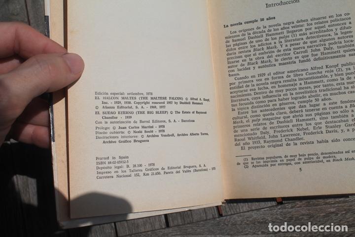Libros antiguos: novela negra el sueño eterno de Raimon Chandler y El halcón mates de Dasihell Hammett; - Foto 2 - 252902820