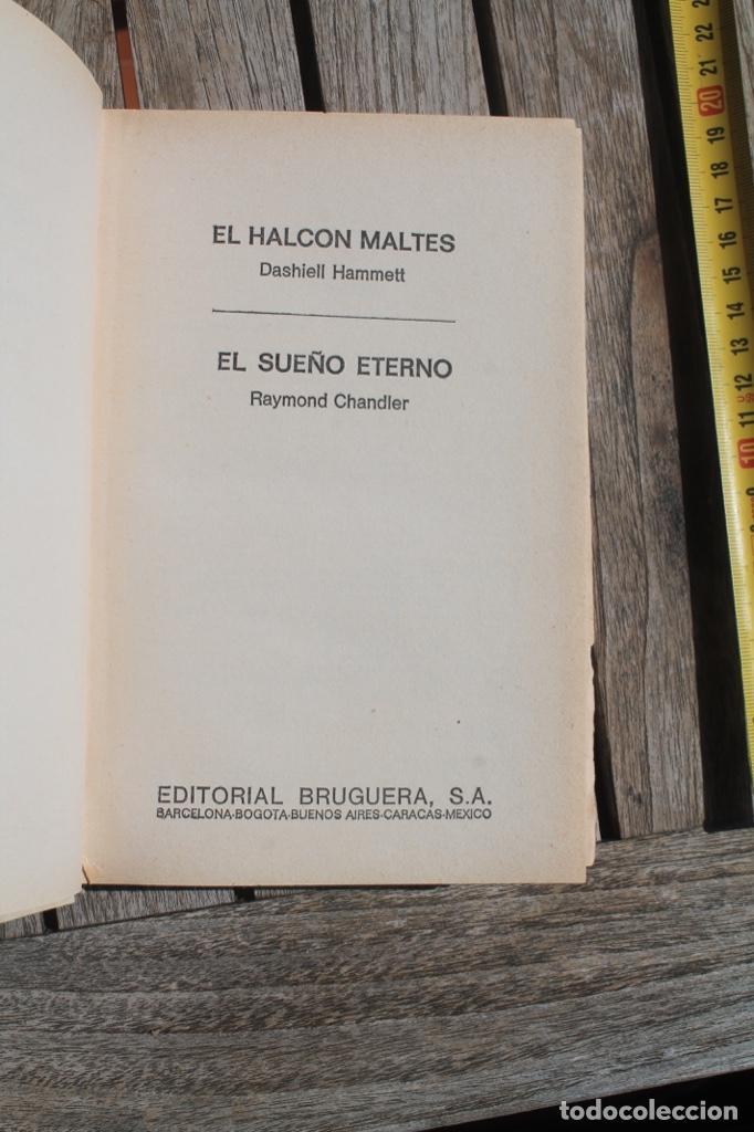 Libros antiguos: novela negra el sueño eterno de Raimon Chandler y El halcón mates de Dasihell Hammett; - Foto 3 - 252902820
