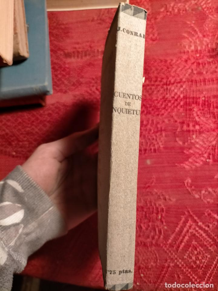 Libros antiguos: Cuentos de inquietud por José Conrad . montaner y simon s.a. barcelona - Foto 3 - 262595610