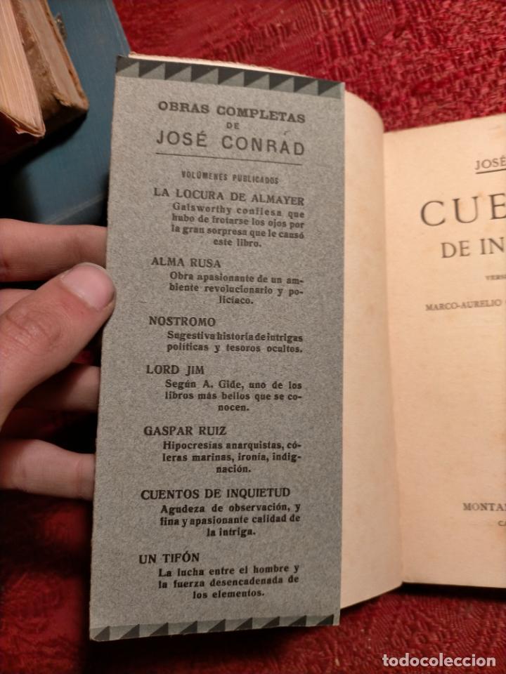 Libros antiguos: Cuentos de inquietud por José Conrad . montaner y simon s.a. barcelona - Foto 8 - 262595610